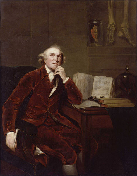 John Hunter painted by his friend Sir Joshua Reynolds, 1786