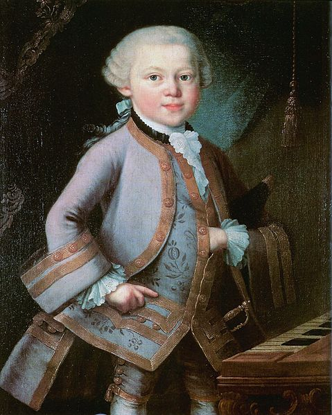 Wolfgang Amadeus Mozart aged seven, painted by Peter Anton Lorenzoni