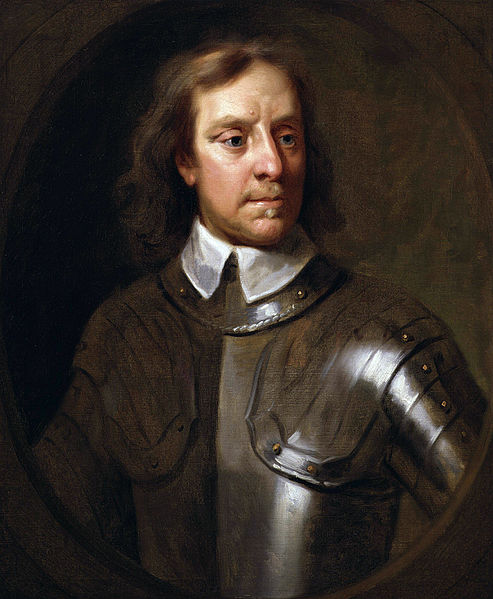 Portrait of Oliver Cromwell by Samuel Cooper