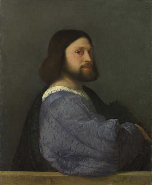 Titian's painting 'Man with a Quilted Sleeve'