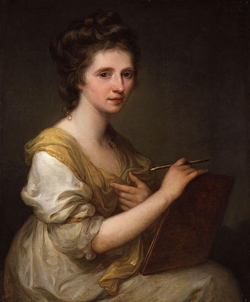 Angelica Kauffmann's self-portrait, c.1770-75