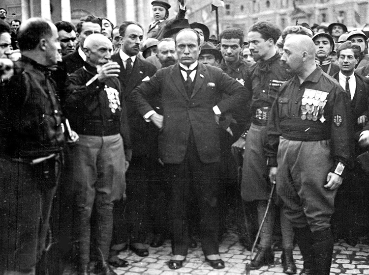 Benito Mussolini on the March to Rome, 1922.