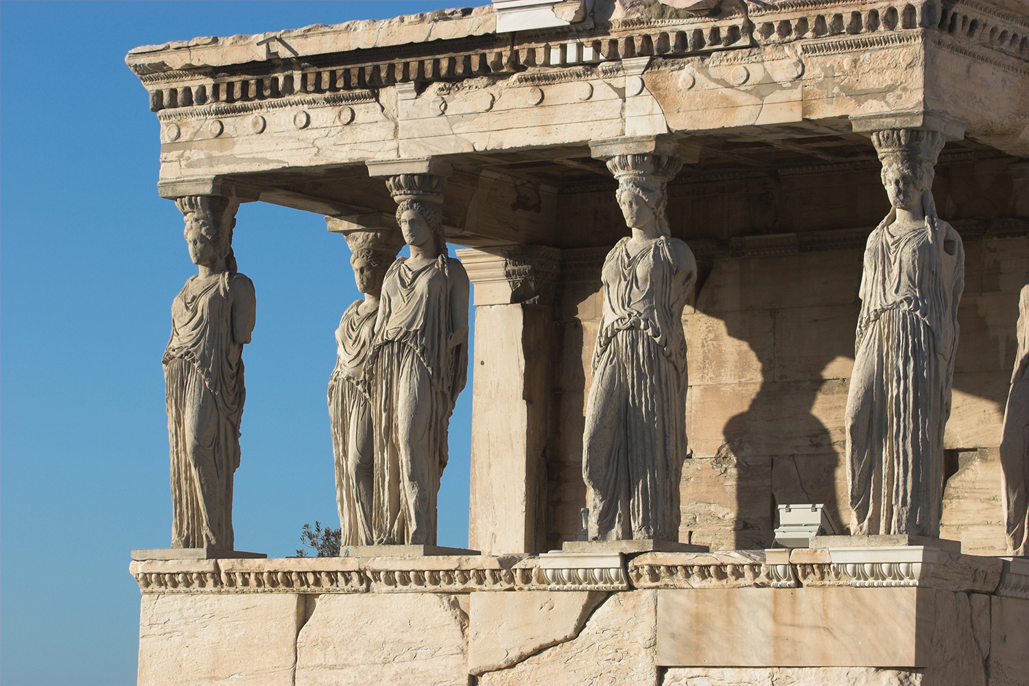 The Caryatid Porch of the Erechtheion, Athens.