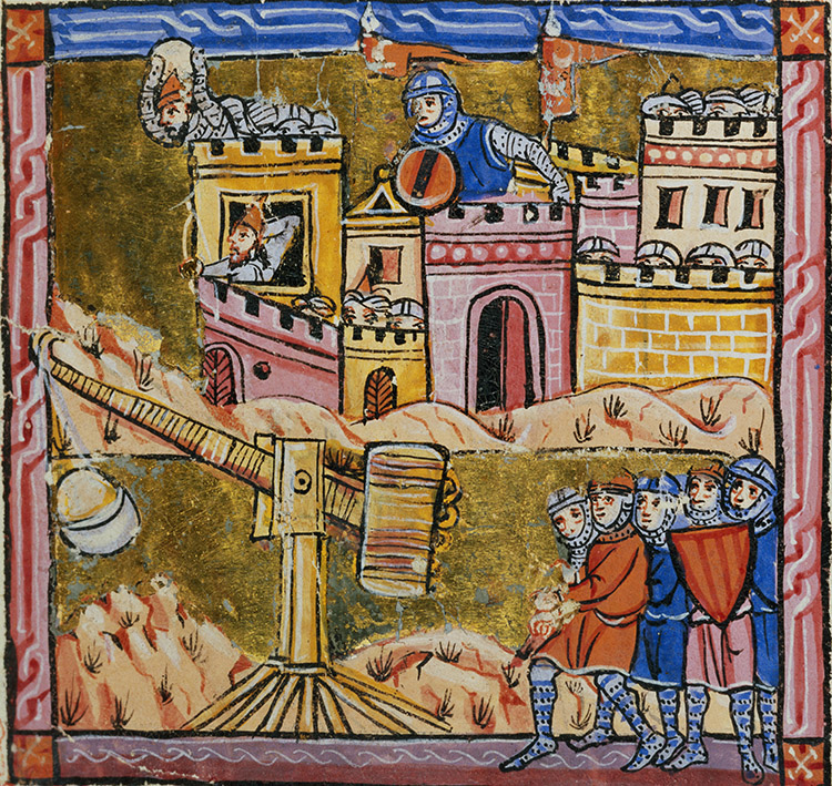 The siege of Antioch, 14th-century French illustration. Bridgeman Images/Bibliothèque Municipale de Lyon