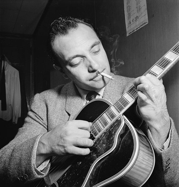 Django Reinhardt photographed in 1946 (Library of Congress)