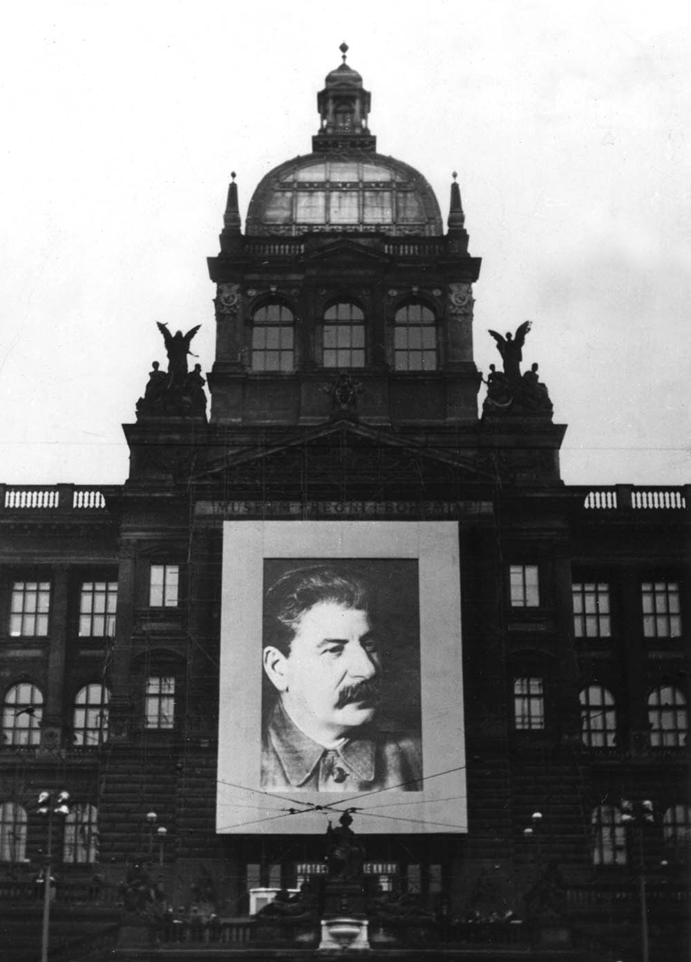 Stalin propaganda in Prague, c.1950.