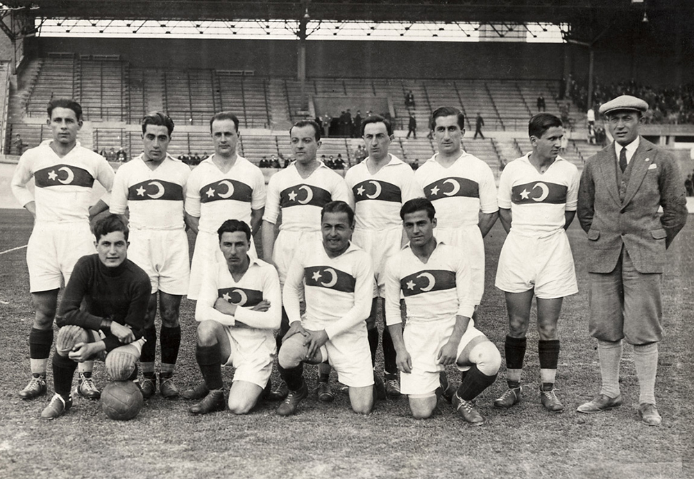 The Turkish national football team at the 1928 Summer Olympics.