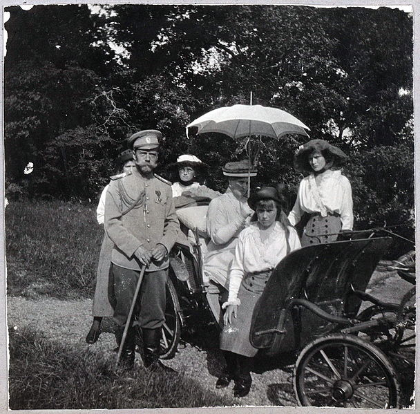 Tsar Nicholas II and Tsarina Alexandra with their four daughters (Romanov Collection, Beinecke Rare Book and Manuscript Library, Yale University)