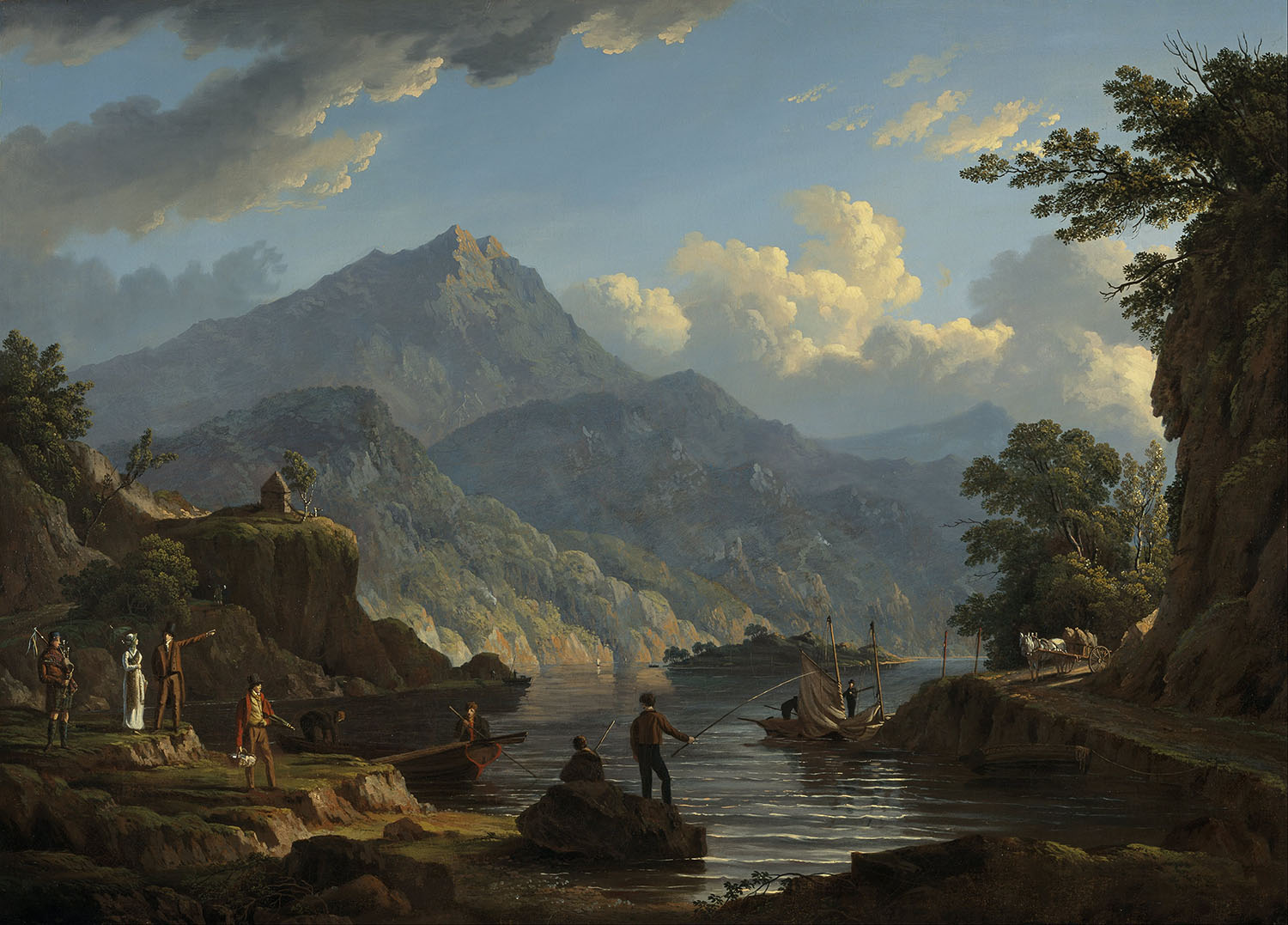 Landscape with Tourists at Loch Katrine, John Knox, 1815.