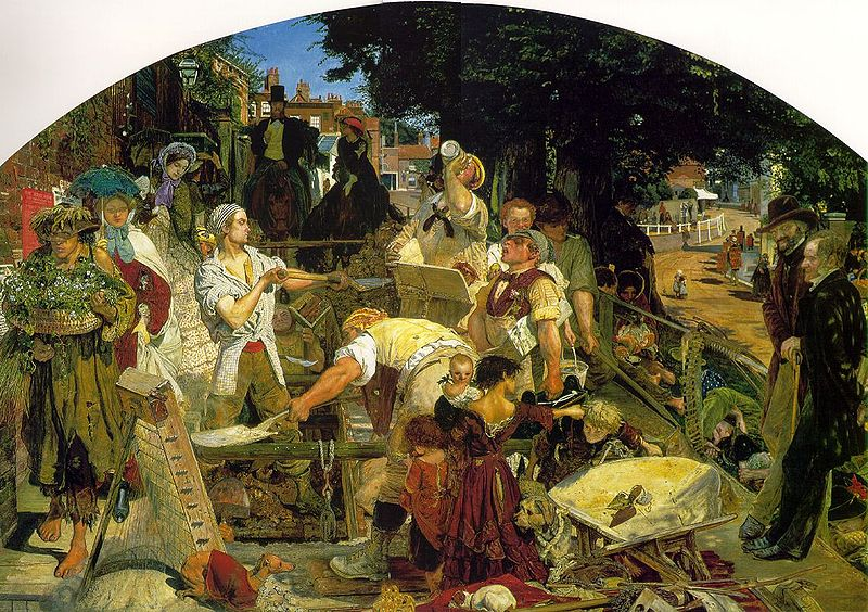 'Work' by Ford Maddox Brown, 1852-65