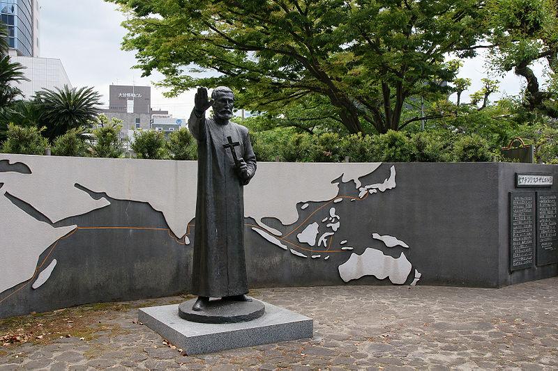 Estatua padre Francisco Xavier Oita Japon