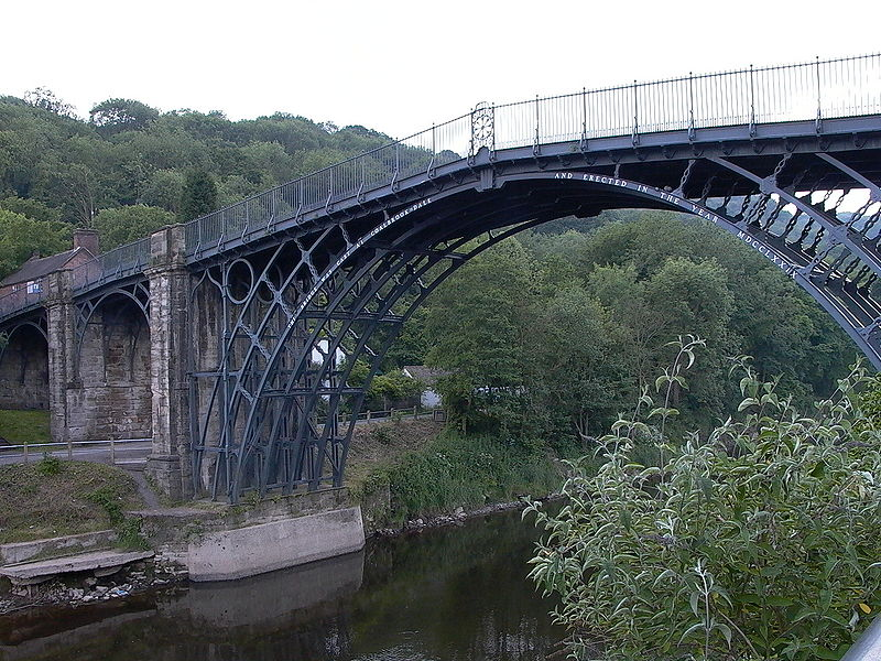 The Iron Bridge built to span the Severn Gorge by Abraham Darby III in 1781