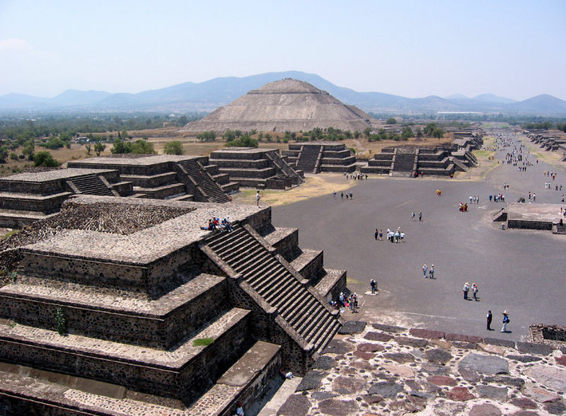 The Pyramid of the Sun and the Street of the Dead at Teotihuacan