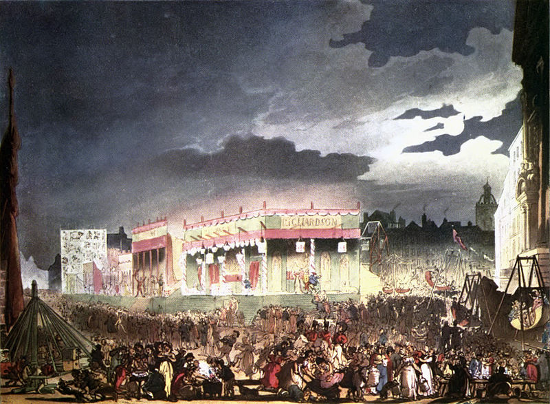 Bartholomew Fair as illustrated in 1808