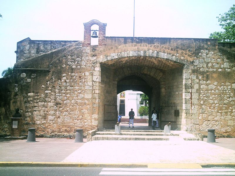 The Conde Gate, Santo Domingo, where the remains of the heroes of Dominican Independence - Duarte, Mella and Sanchez - are buried