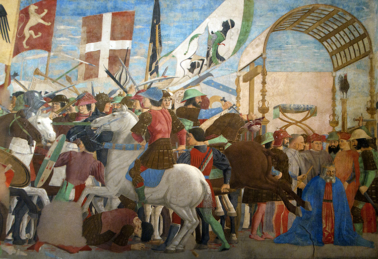 The Battle of  Heraclius and Khusrow, Piero della Francesca, Basilica of St Francis, Arezzo, Italy, 1447-66. Ⓒ akg-images