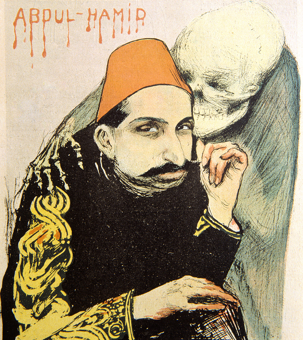 Sultan Abdulhamid II as the 'Sick Man of Europe'. Cover of 'Le Rire', May 1897. Chris Hellier/Alamy Stock Photo