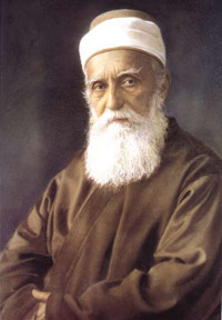 Abdu'l-Baha, son of Baha'u'llah and world leader of the Baha'i community from 1892 to 1921