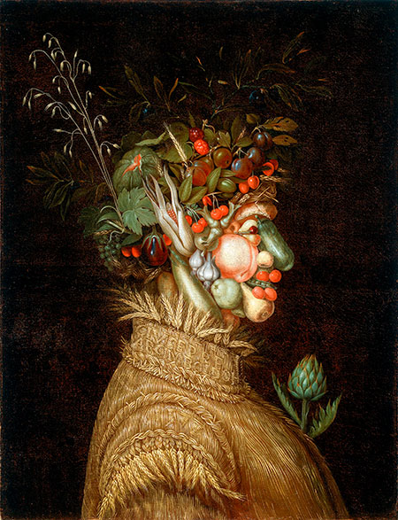 Painting called The Summer, by Giuseppe Arcimboldo, 1572. © akg-images