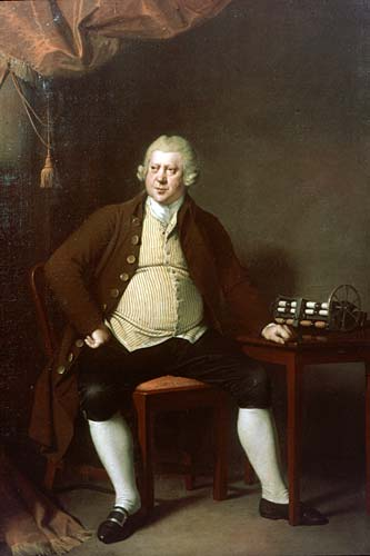 Joseph Wright of Derby's portrait of Sir Richard Arkwright