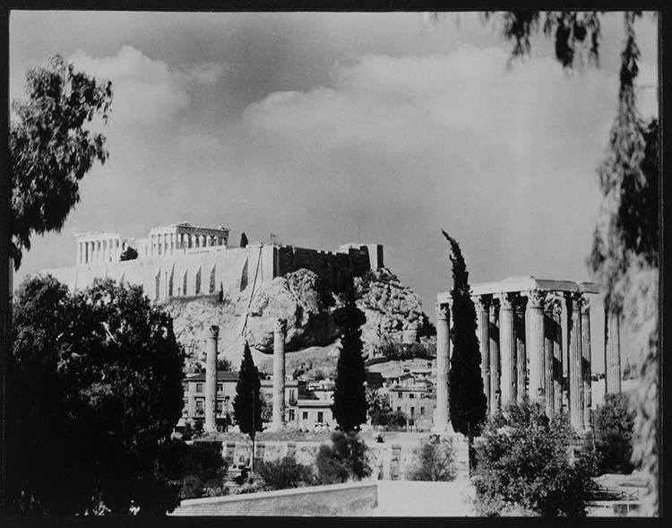 Acropolis with Parthenon, Athens, Greece, 1956.