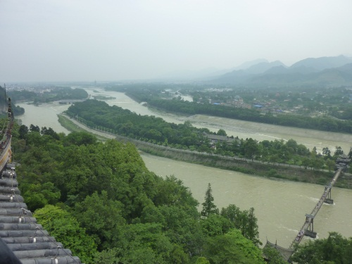 The Dujiangyan irrigation system in South-West China, devised and constructed by Li Bing in c. 270 BC which has been irrigating the Sichuan basin for more than 2000 years without missing a single day.