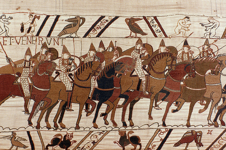 The Norman army in battle.
