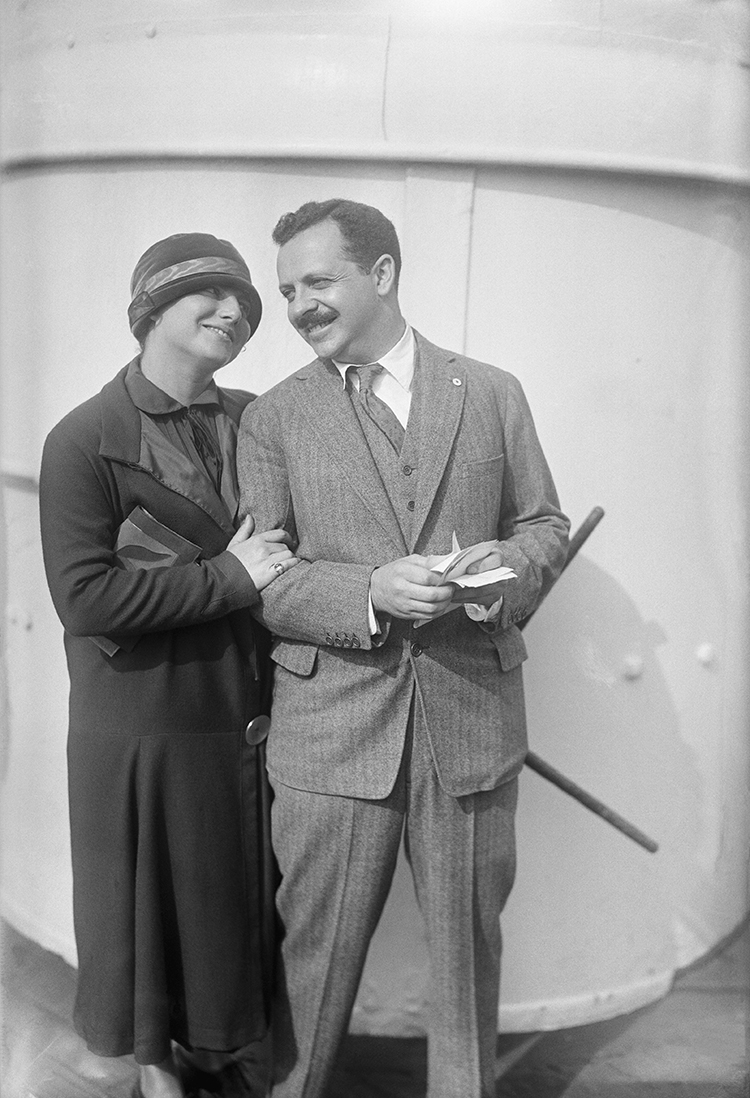 Edward L. Bernays, with his wife, Doris E. Fleischman, aboard the SS Mauretania, 1923.