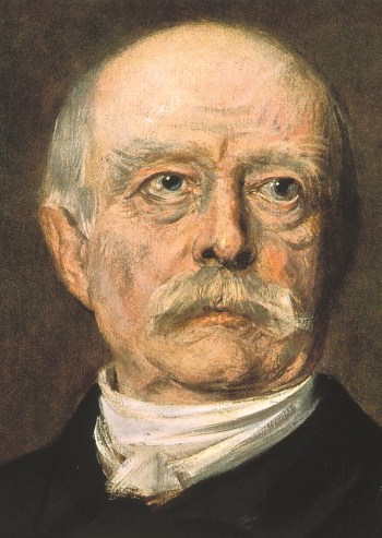 A portrait of Bismarck by Franz von Lenback, 1888.
