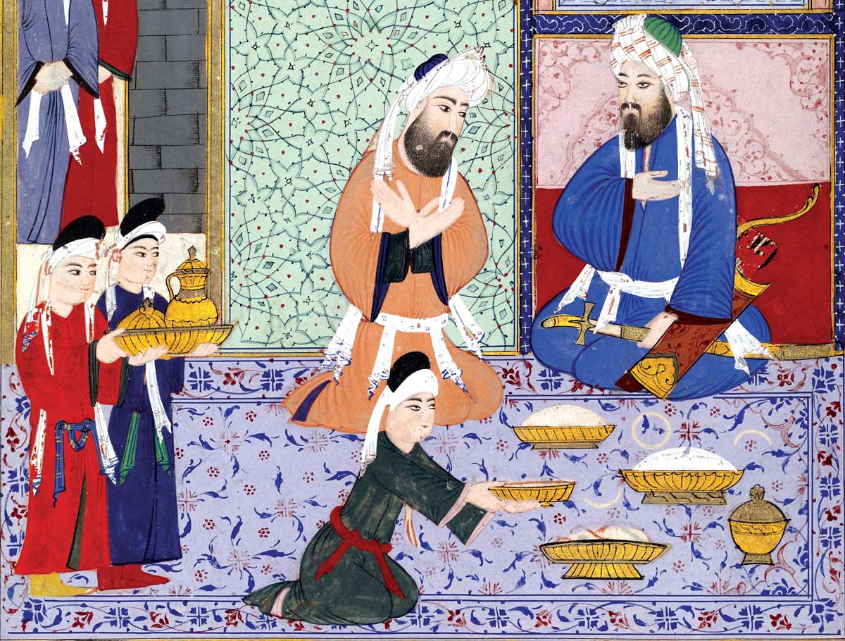 A scene of feasting, c.1594, Ottoman Empire © Museum of Fine Arts, Houston, Texas/Bridgeman Images