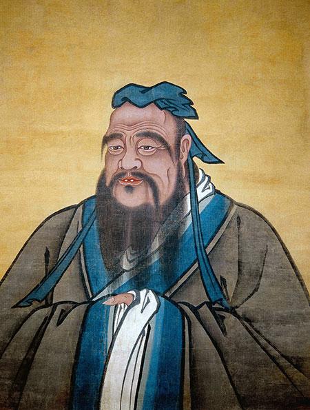Portrait of K'ung Fu-tzu (Latinised to Confucius). Copyright Bridgeman Images