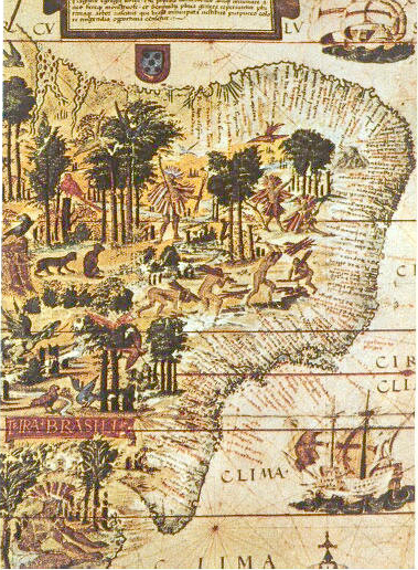Map of Brazil in the 16th century