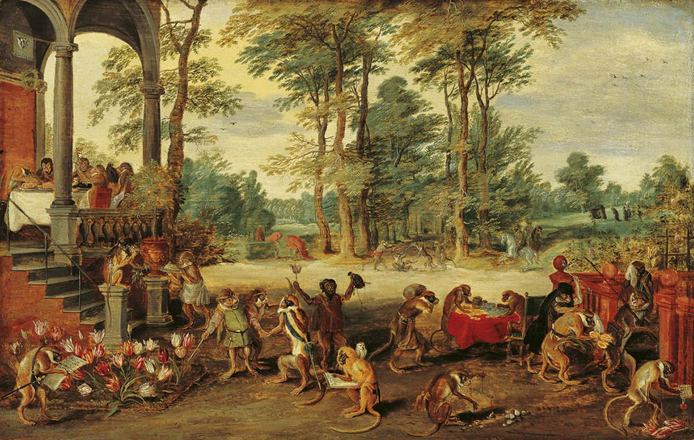 Jan Brueghel the Younger, Satire on Tulip Mania, c.1640.
