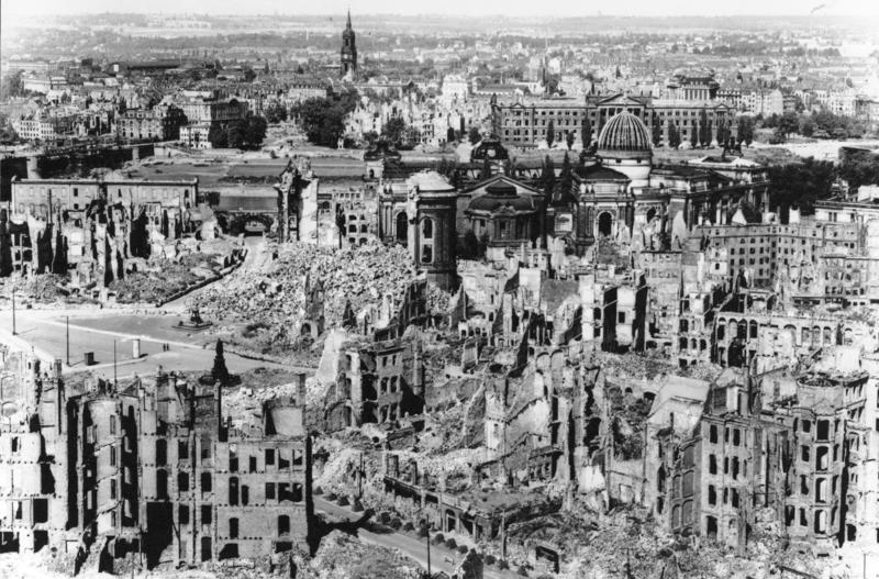 Dresden after the bombing raid