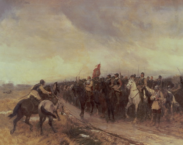"""Cromwell at Dunbar"", by Andrew Carrick Gow"