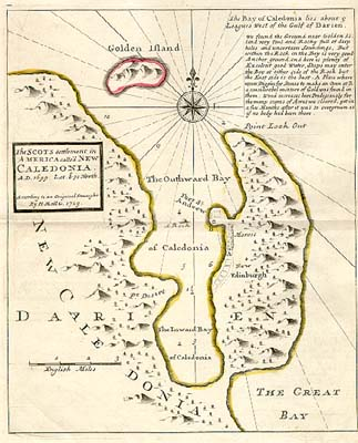 Map of the Darien Colony