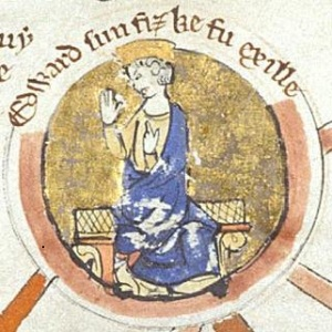 Edward the Exile, from a pedigree of Edmund Ironside in 13th century manuscript