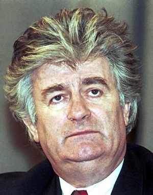 Radovan Karadžić in Moscow on 3 March 1994. Mikhail Evstafiev.
