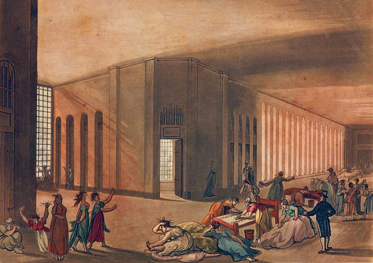 St Luke's Hospital for Lunatics, coloured aquatint by Stadler, 1809 © Getty Images.