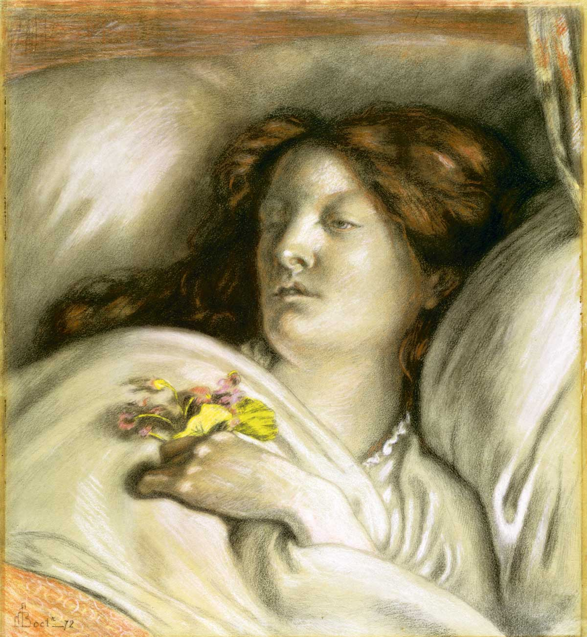 Convalescent (Emma), by Ford Madox Brown, 1872 © Bridgeman Images.