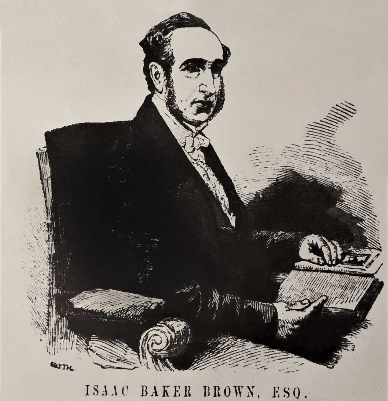 Isaac Baker Brown, 19th-century illustration. Courtesy Sarah Wise.