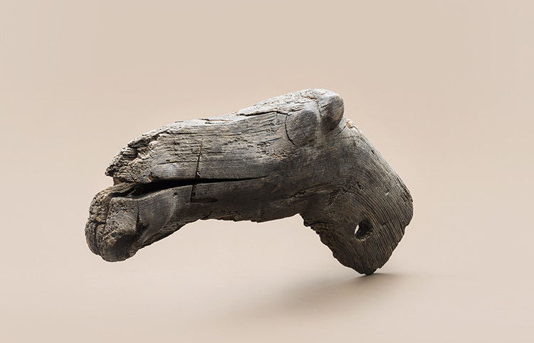 Carved head of an elk, possibly the figurehead of a boat, Stone Age. Courtesy National Board of Antiquities/Ilari Järvinen