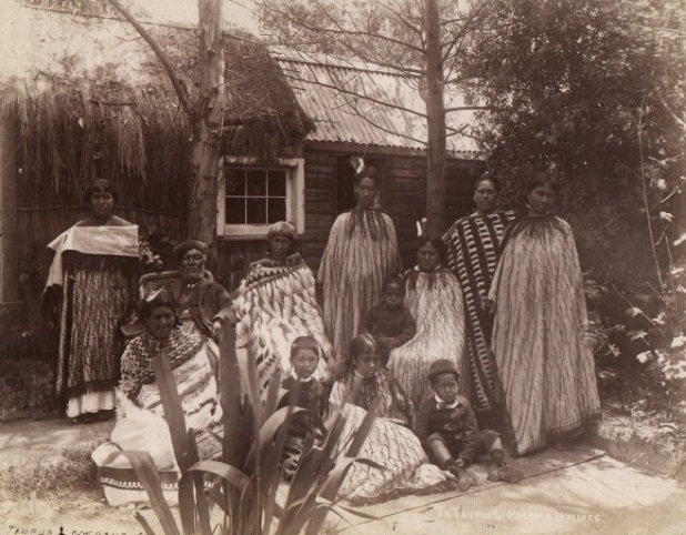 Māori family from Rotorua in the 1880s
