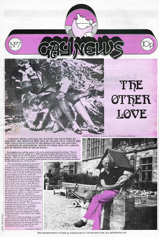 Gay News, Issue 7, September 1972. Courtesy Gay News Archive Project.