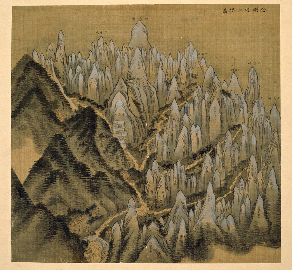 Geumgangsan Mountain, Jeong Seon, 18th century. © Courtesy National Museum of Korea