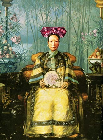 Portrait of Tzu-hsi by Hubert Vos, 1906