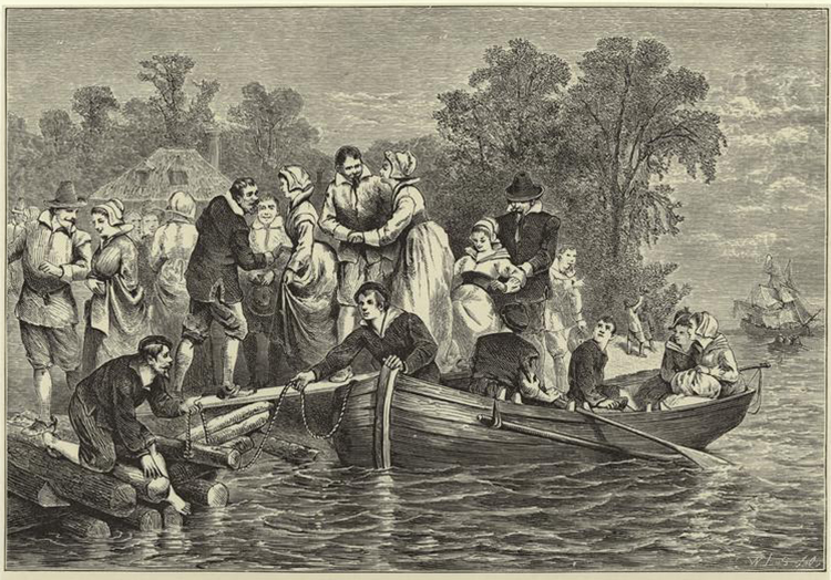 Wives for the settlers at Jamestown by William Ludwell Sheppard, 1876.
