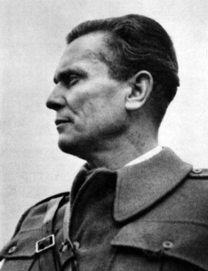 Josip Broz Tito in Bihać in 1942