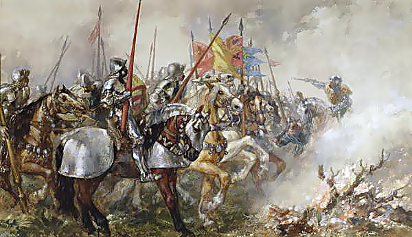 King Henry V at the Battle of Agincourt, 1415, by John Gilbert