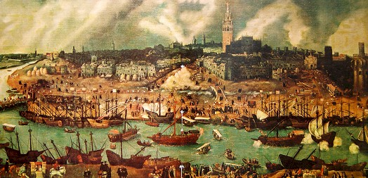 View of Seville in the 16th century by Alonso Sanchez Coello